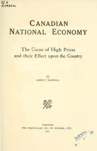 Download Canadian national economy