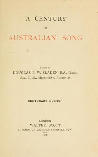 Download A century of Australian song