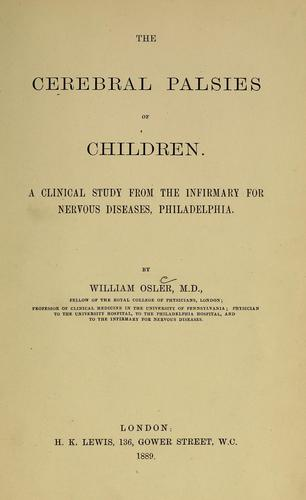 Download The cerebral palsies of children