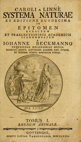 Download Caroli a Linné Systema naturae