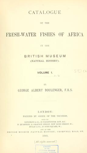 Download Catalogue of the fresh-water fishes of Africa in the British museum (Natural history) …