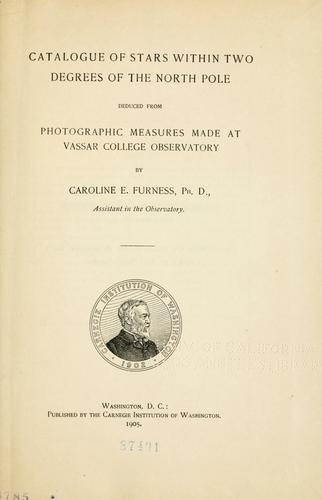 Download Catalogue of stars within two degrees of the North Pole, deduced from photographic measures made at Vassar College Observatory