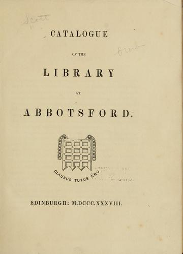 Download Catalogue of the library at Abbotsford …