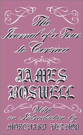 Download The Journal of a Tour to Corsica and Memoirs of Pascal Paoli