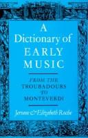 Download A dictionary of early music