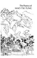 The poetry of Mao Tse-Tung