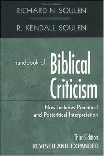 Download Handbook of biblical criticism