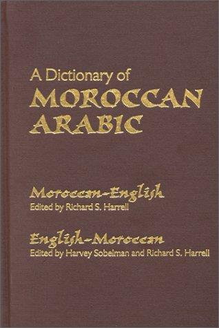 Download A Dictionary of Moroccan Arabic