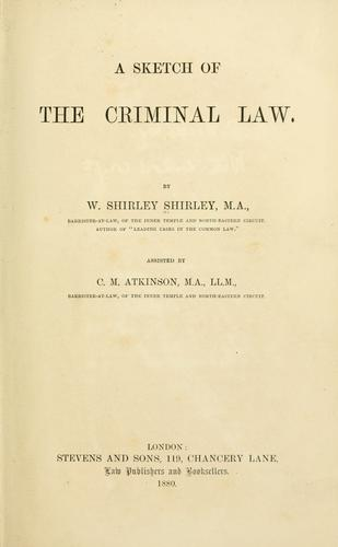 A sketch of the criminal law.