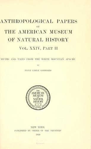 Download Myths and tales from the White Mountain Apache