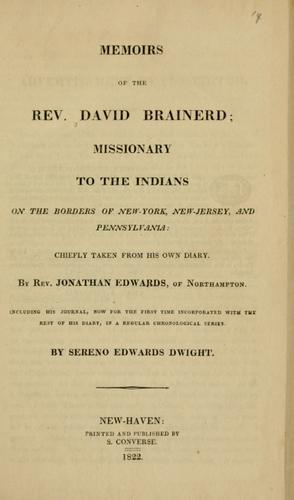 Download Memoirs of the Rev. David Brainerd