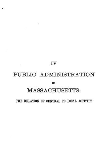 Download Public administration in Massachusetts