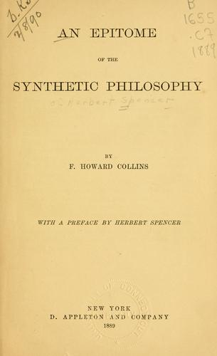An epitome of the synthetic philosophy