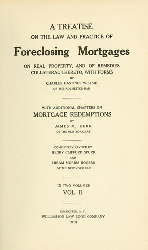 Download A treatise on the law and practice of foreclosing mortgages on real property