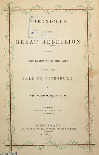 Download Chronicles of the great rebellion.
