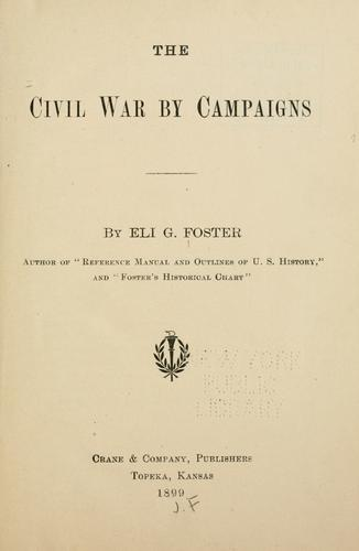 Download The Civil War by campaigns