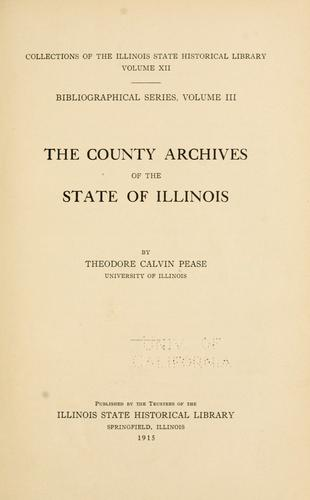 Download The county archives of the state of Illinois