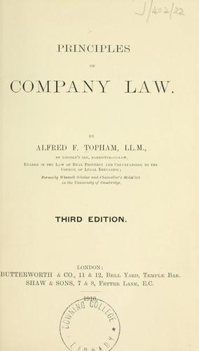 Download Principles of company law.