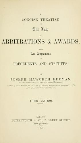 A concise treatise on the law of arbitrations & awards