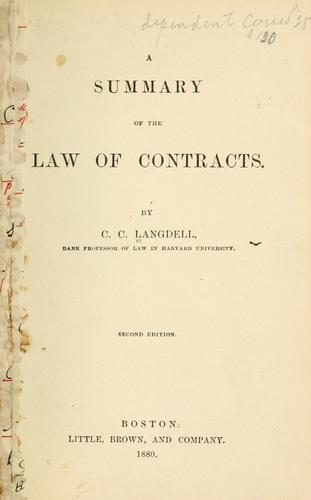 Download A summary of the law of contracts.