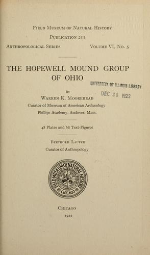 Download The Hopewell mound group of Ohio