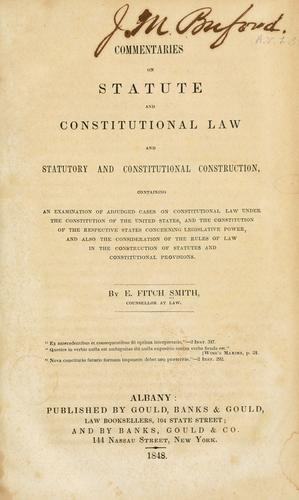 Download Commentaries on statute and constitutional law and statutory and constitutional construction