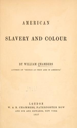 Download American slavery and colour