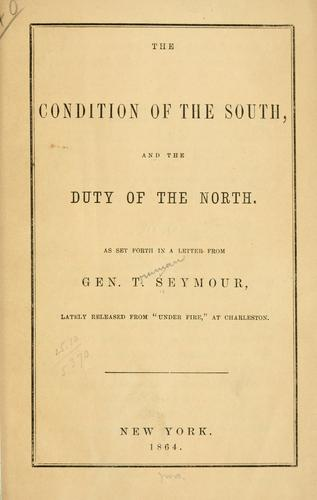 The condition of the South, and the duty of the North.