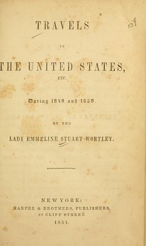 Download Travels in the United States, etc., during 1849 and 1850.