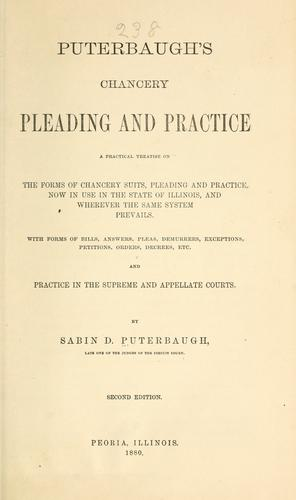 Download Puterbaugh's chancery pleading and practice