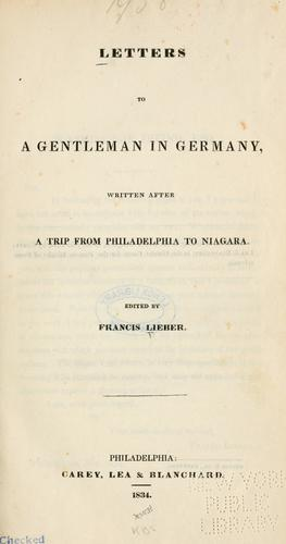 Download Letters to a gentleman in Germany