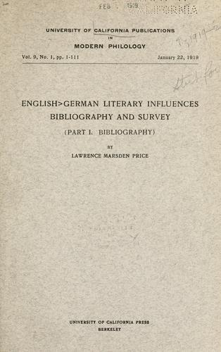 Download English German literary influences