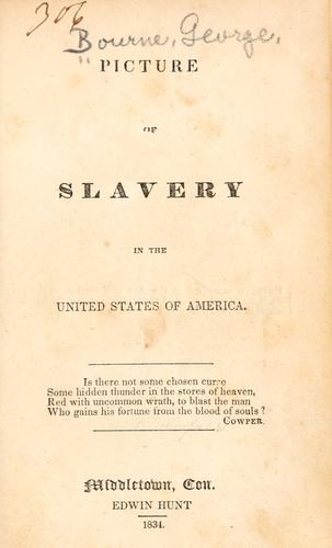 Picture of slavery in the United States of America.