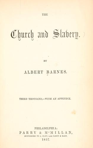 The church and slavery.