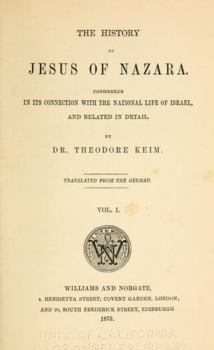 Download The history of Jesus of Nazara