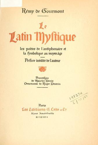 Download Le latin mystique