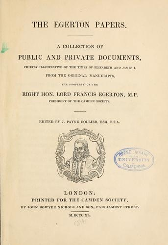 The Egerton papers.