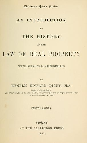 Download An introduction to the history of the law of real property