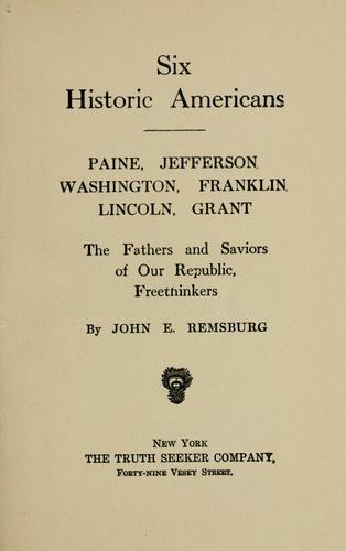 Download Six historic Americans