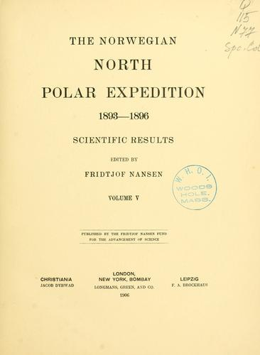 The Norwegian North polar expedition, 1893-1896