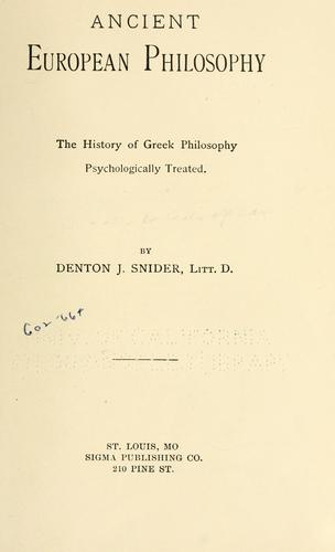 Ancient European philosophy