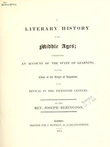 A literary history of the middle ages