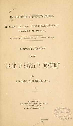 History of slavery in Connecticut