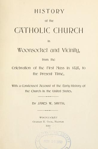 Download History of the Catholic church in Woonsocket and vicinity