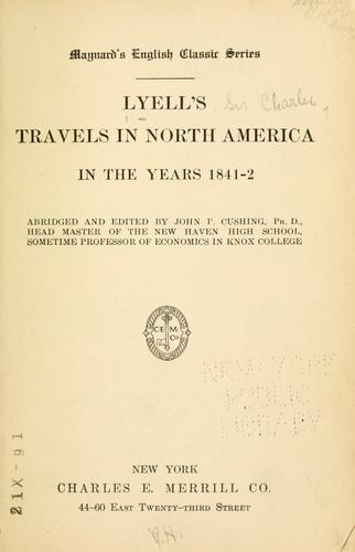 Download Lyell's travels in North America in the years 1841-2
