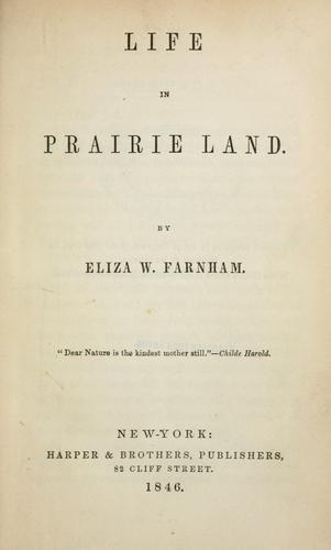 Life in prairie land