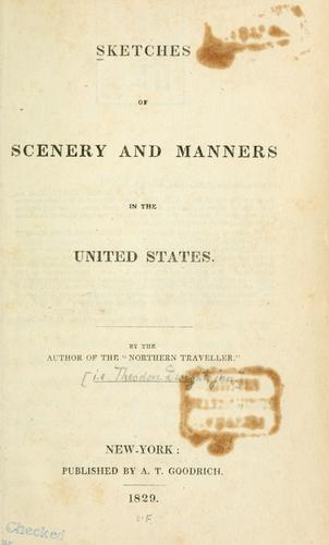 Download Sketches of scenery and manners in the United States.