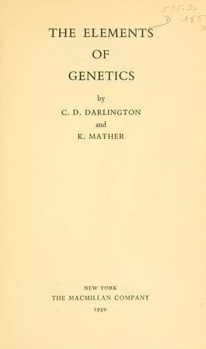 Download The elements of genetics