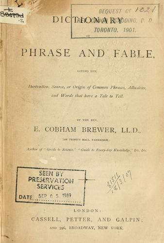 Download Dictionary of phrase and fable