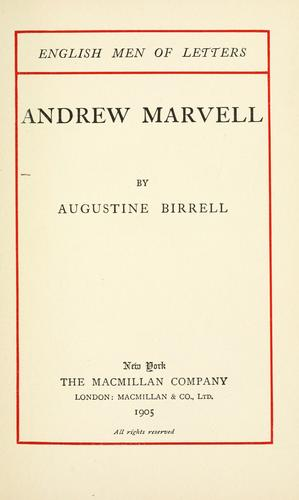 Andrew Marvell.